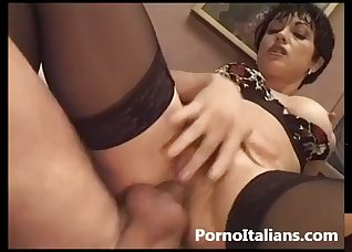 Hardcore anal action with a leggy mature