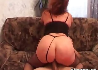 Big-ass wife fucked by two big boners