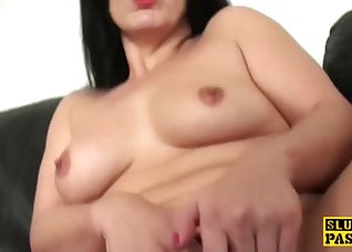 Busty brunette likes intensive sex games
