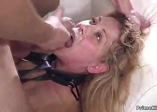 Brutal face-fucking with impressive matures