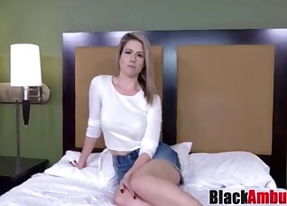 Blonde MILF is trying to suck a black dick