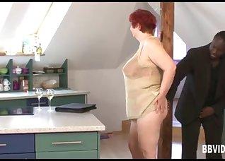 Chubby redhead mature adores rough sex