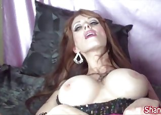 Playful chick fucked by a massive boner