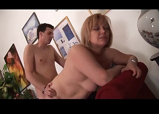 Gorgeous chubby mature fucked on camera