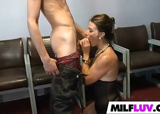 Rich brunettes strokes and sucks on cam
