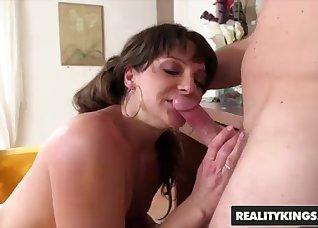 High-heeled flexy MILF fucked from behind